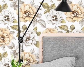 Balmy Garden Rose Self Adhesive Wallpaper , Temporary Wall Decal , Wallpaper Roll , Vinyl Wallpaper ,  Removable Wallpaper , 249