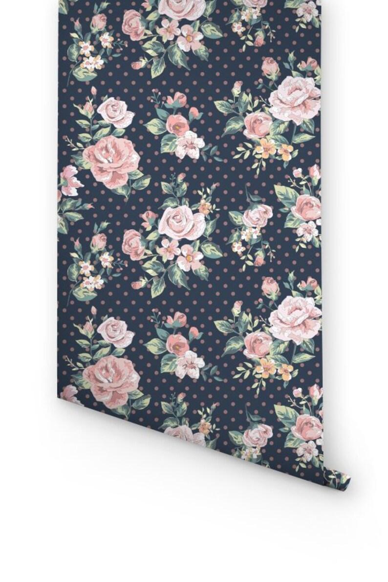 Rose Wallpaper 071 Rose Self-Adhesive Wallpaper Rose Wallpaper Rose Wall Decal Rose Wall Sticker Removable Wallpaper