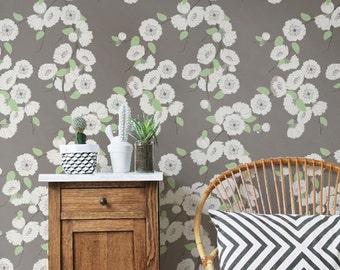 Sakura Branch Wallpaper, Removable Wallpaper, Sakura Wallpaper, Sakura Wall Sticker, Sakura Wall Decal, Sakura Adhesive Wallpaper, 010