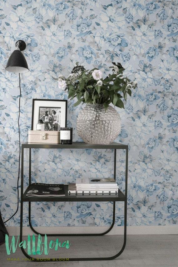 Poppige muster abnehmbare wallpaper mohn wandtattoo blaue - Wandtattoo mohn ...