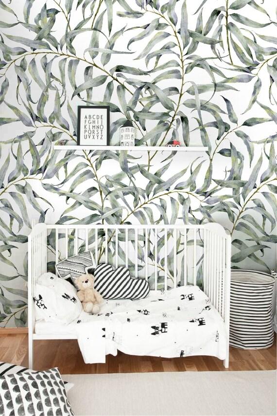 Eucalyptus Blad Verwisselbare Behang Jungle Tijdelijke Behang | Etsy