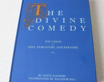 The Divine Comedy by Dante Alighieri with x12 beautiful works by Salvador Dali