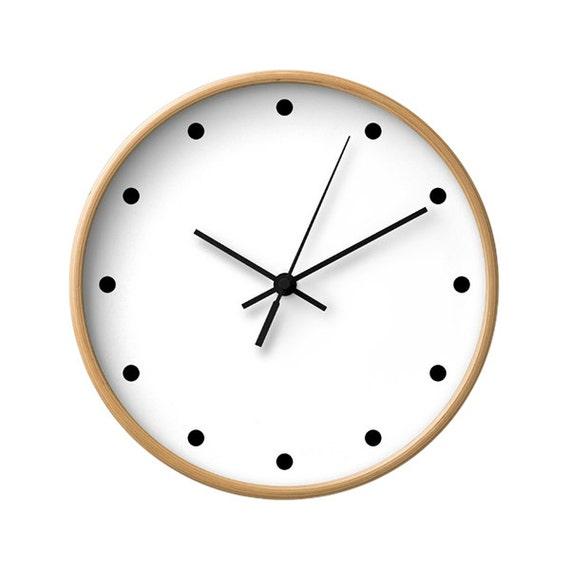 points classique murale horloge couleur noir et blanc. Black Bedroom Furniture Sets. Home Design Ideas