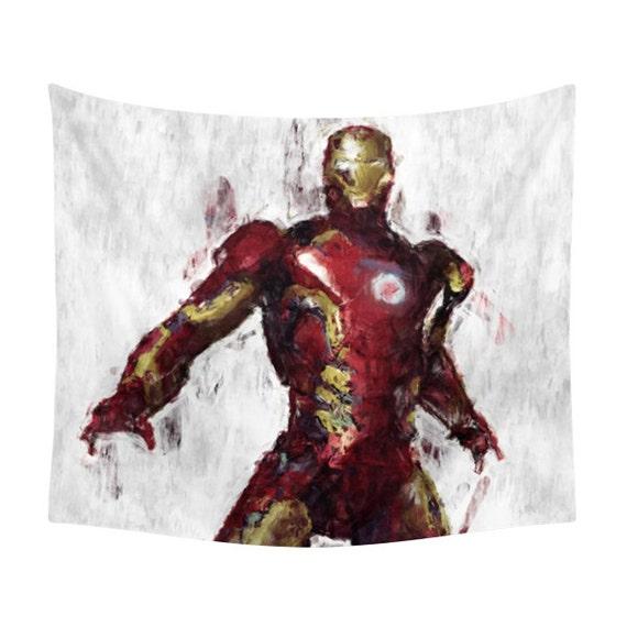 Iron Man Tapisserie Héros Vengeurs De Caractère Marvel