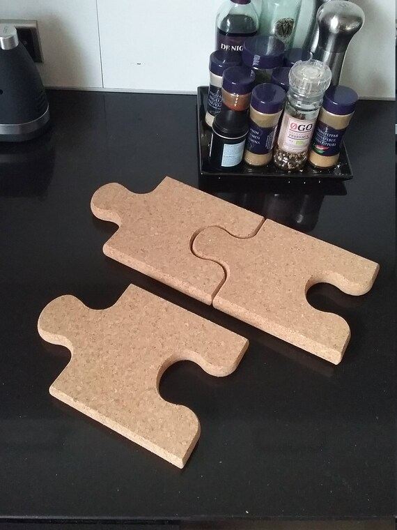 Puzzle Piece Made Of Cork Create Your Own Cork Bulletin Etsy