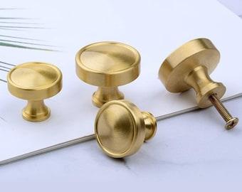 Brass Knob Brass Drawer Knobs Pulls Handles Dresser Pull Cabinet Pull Brass  Door Knob Brushed Brass Anglehome Hardware