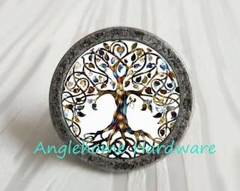 Tree- Dresser Knobs Pulls / Drawer Pulls Knobs / Cabinet Knobs /Furniture Knobs Vintage Antique Dresser Knobs Antique Silver Bronze Hardware