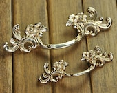 1.75 quot 2.5 quot Shabby Chic Dresser Pull Drawer Pulls Door Handles Antique Silver French Vintage Cabinet Knobs Handle 44 64mm