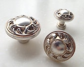 Shabby Chic Dresser Drawer Pulls Handles French Country Kitchen Cabinet Handle Pull Antique Silver Furniture Hardware