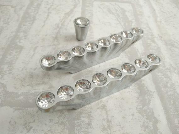 Glass Dresser Knobs / Crystal Drawer Knobs Pulls Handles | Etsy
