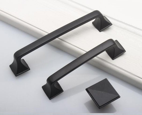 3.75 5 6.3 Drawer Knob Pulls Dresser Pull Knobs Handles Kitchen Cabinet Door Cupboard Handles Retro Rustic Furniture Black 96 128 160 mm