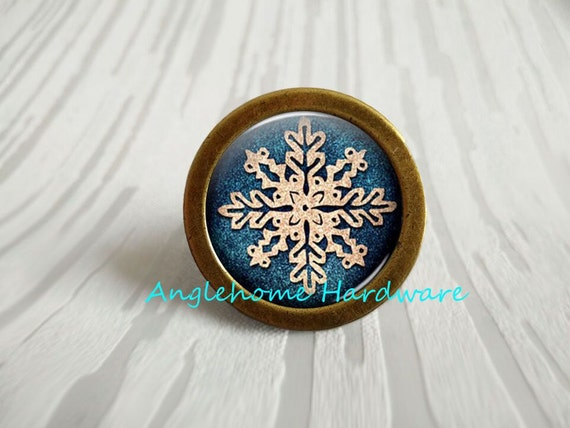 Snowflake Backplate For Drawer Pull Lot of 4