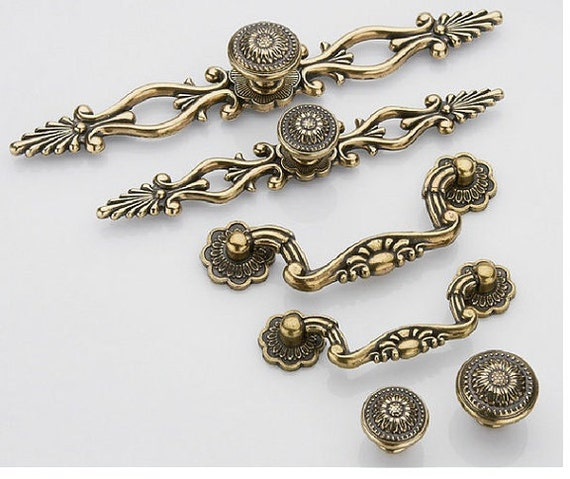 image 0 - Dresser Knob Pull Drawer Knobs Pulls Handles Antique Bronze Etsy