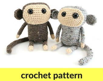 Cute Monkey DIY Fluffies crochet pattern. #amigurumi #crochet ... | 270x340