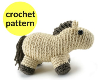 Horse amigurumi pattern - horse crochet pattern, cute amigurumi, horse crochet pattern, easy amigurumi, pony crochet, pony amigurumi