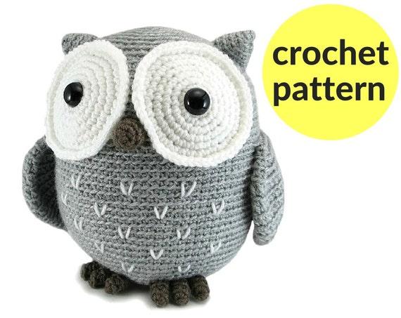 Large Owl Amigurumi Pattern Crochet Owl Pattern Large Etsy