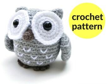 Little owl amigurumi pattern - crochet owl pattern, plush owl, easy crochet pattern, cute stuffed animal, woodland crochet pattern, owl ami