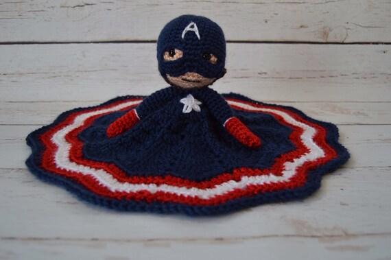 Captain America inspiriert häkeln Superhelden Lovey | Etsy