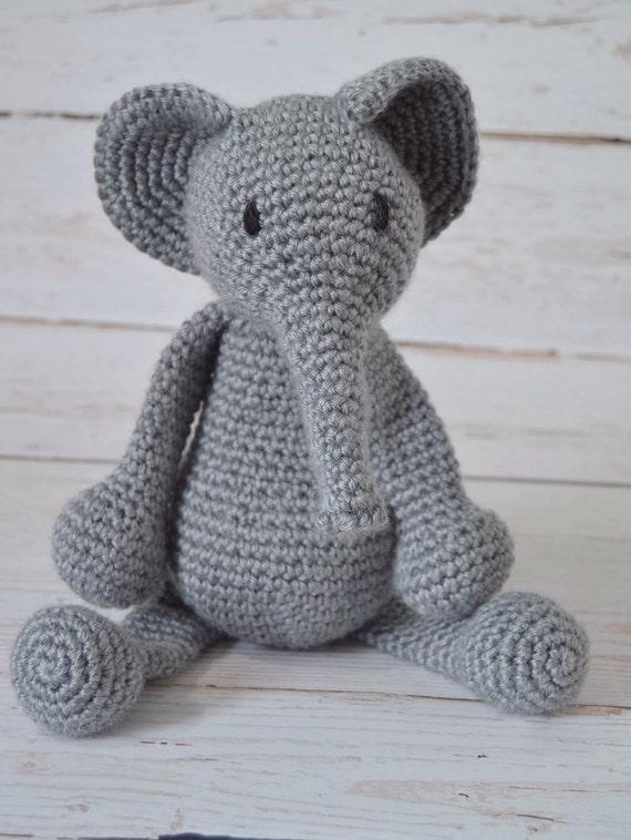 Kuscheltier Häkeln Häkeln Stoffelefanten Grauer Elefant Etsy