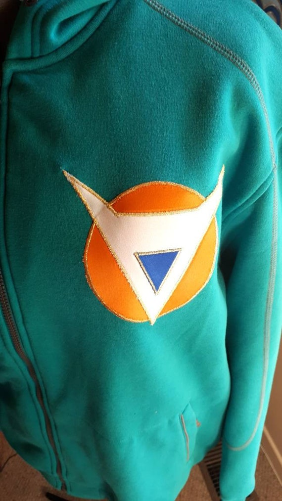 Full Zip Hoodie Ginyu Force Front And Back Logo Edged In Etsy