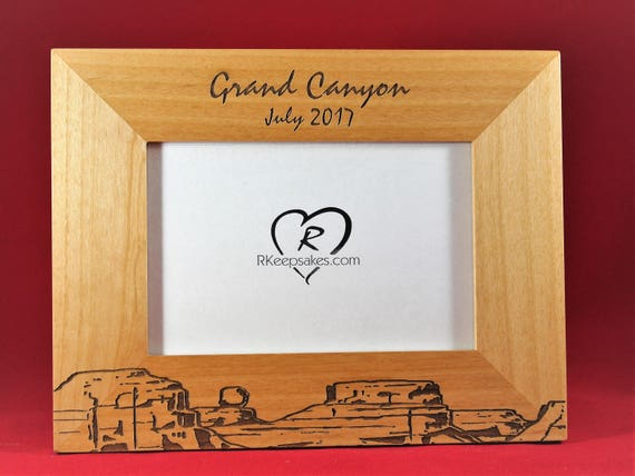 Grand Canyon Engraved Picture Frame Any Text Photo Frame | Etsy