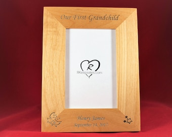 Baby Personalized Picture Frame, Gift for Grandparents, New Baby, Any Text