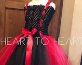 Tutu Dress, Black and red tutu dress, girls tutu, girls tutu dress, flower girl tutu, birthday tutu, tutu, Tutu gown, girls outfit