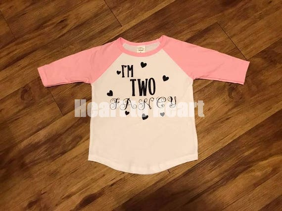 Two Fancy Outfit Girl Second Birthday Outfit Second Birthday Shirt