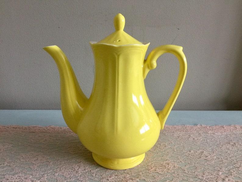 Ironstone Lemon Federalist Teapot Vintage Yellow teapot Made in Japan