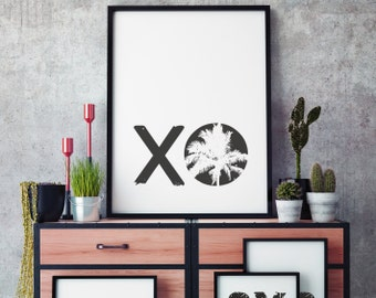 xo - black white, Quote Prints Wall Print Art Poster Printable Decor Design Statement Wallart Printable Art Lovers Love Be