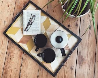 Wood Tray, Wooden Tray, Serving Tray, Breakfast Tray, Wood Serving Tray, Ottoman Tray, Tray, Wooden Serving Tray, Tea Tray, Kitchen Decor