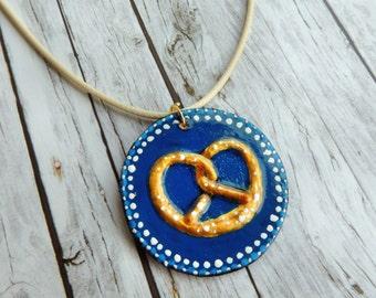 Oktoberfest Halskette Brezeln Bayern Halskette