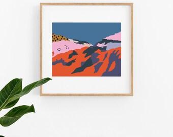 Ethiopian Ravine Artwork PosterPrintable Instant Download Print Yourself