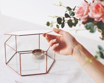 Geometric Box for Photos | Stained Glass Jewelry Box | Wedding Gift | Bridesmaid Gift Box | Small Card Box | Keepsake Box