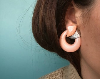 Statement Open Circle Earrings, Plastic Earrings, Large Earrings, Circle Earrings, Round Earrings, Big Earrings, TaraLynEvansStudio