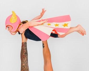 Super Hero Costume Pink, Girl Power, Strong Girl Costume, Wonder Woman, Powerful Girl, Cool Kid, Toddler Gift, Kids Gift, Kids Costume Play