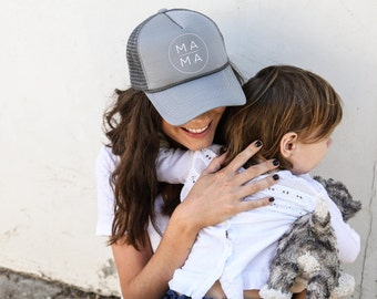 Gray Mama Trucker Hat, Gift for Mom, Mom Gifts, Hats for Moms, Mom Hat, Mama Hat, Mother's Day Gift, Mothers Day, Mom Christmas, Mama Gift