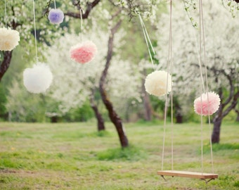 Paper pom pom party set of 40 | Baby shower decor | Paper flowers | Birthday party decor