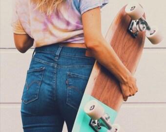 Skateboard Cruiser Wooden Skateboard Walnut Walnut Longboard from Walnut Wooden Skateboard Rolling Wood Big Cruiser Wood Design