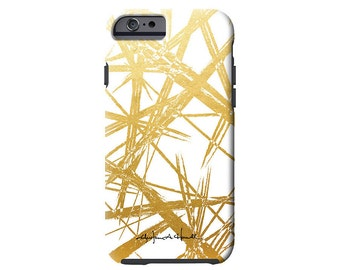 GOLD STROKES faux gold tech case iPhone X/Xs ,iPhone Xs Max, iPhone XR, iPhone 8/8 Plus, iPhone 7/7 Plus, Samsung Galaxy S6 + more!