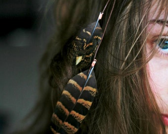 2x2 Feather Hairclips Hair clip Tribal, natural jewellery handmade