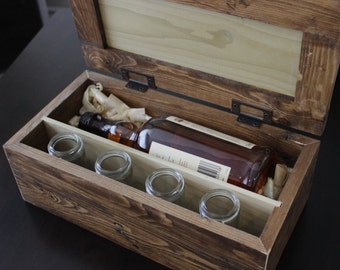 Personalized Scotch Whiskey Gift Box for Wedding Gift Groomsmen