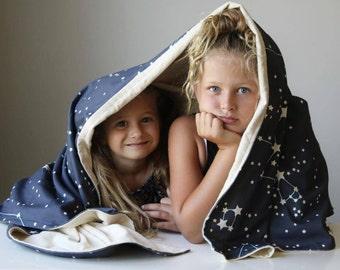 Organic Throw Blanket, Kids Bedroom Decor, Throw, Blanket, Eco Friendly