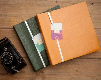 Leather photograph album