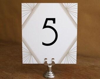 Druckbare Tabelle Anzahl - Anzahl Tabellenvorlage - Instant-Download - Hochzeit Tisch Nummer PDF - Art-Deco-Tisch-Nummer - Gatsby Tisch-Nummer