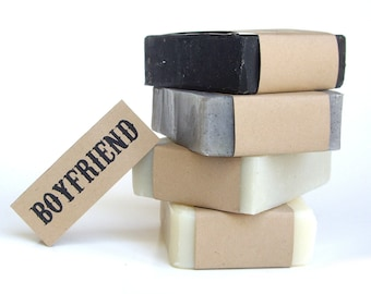 Boyfriend Gift Set | 4 Natural Soap for Fathers Day gift | Valentine Gift for Husband | Men's Birthday Gift