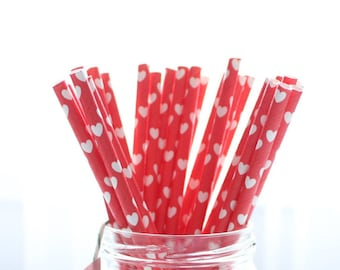 YEAR END SALE!! 25pcs Heart Straws - Love - Valentines day decor - party decor- birthday decor