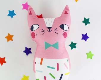 Cat Soft Toy - Confetti Cats Pink Cat Plush Doll