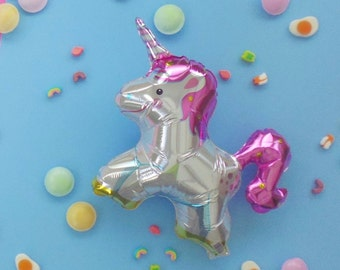 "foil balloon || SPARKLY UNICORN || 16"" mini air-fill balloon"