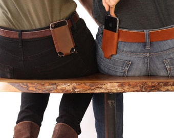 iPhone 5 / 5SE / 6 / 4 - Belt Holder - Leather